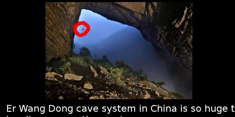 Did You Know That There Is Such A Huge Cave In China That It Has - Er wang dong cave china large weather system
